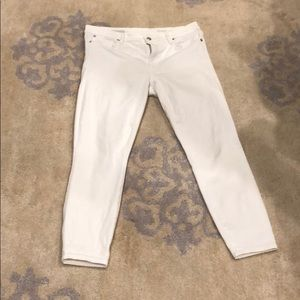 Gap stretch True Skinny Ankle White Jeans